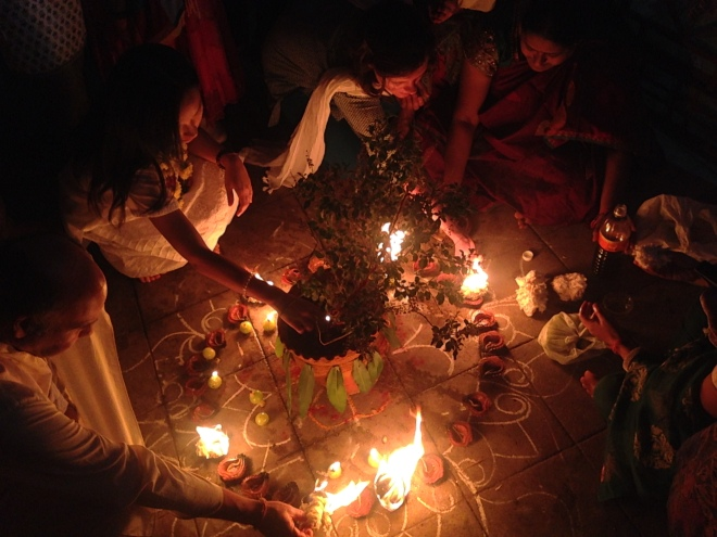 Tulsi and Amla full moon yagya